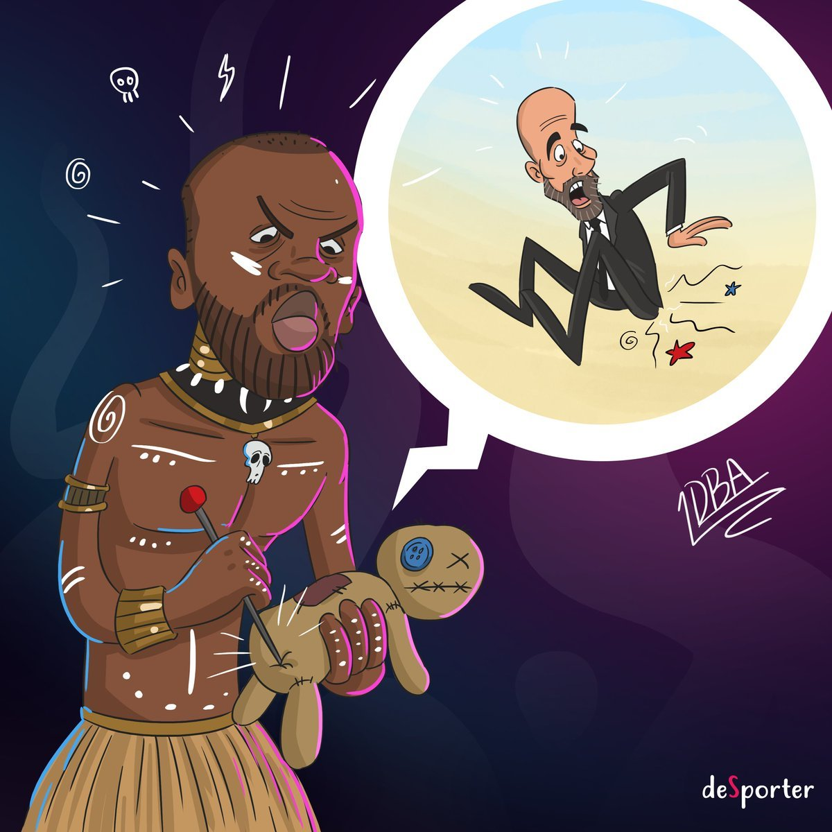 La imagen de Yaya Touré haciendo vudú a Pep Guardiola publicada por...