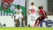 Haidara marca a placer el 2-2 para el Salzburgo.