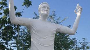 La estatua dedicada a Radamel Falcao que se ha vuelto viral
