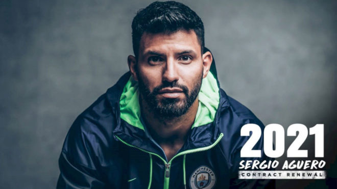 Premier League: Kun Aguero Signs New Three Year Manchester