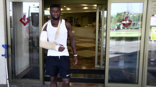Amadou, a su salida del hospital.