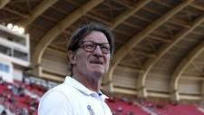 Anquela, antes del partido de Copa del Rey del Oviedo en Son Moix