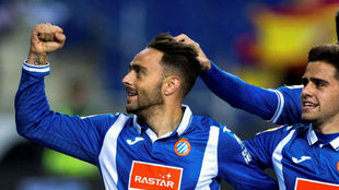 Sergio García celebra un gol.