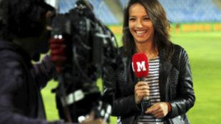 Rebeca Haro en su etapa como presentadora de Marca TV