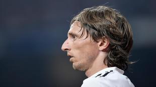 Luka Modric, durante un partido de la presente temporada.