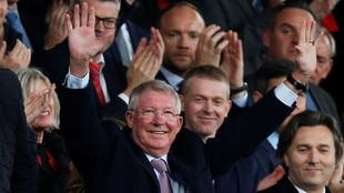 Alex Ferguson no aparecía en público desde su problema de salud.