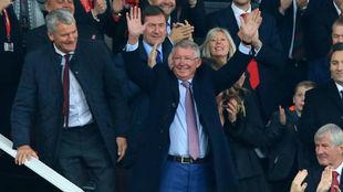 Ferguson recibe el homenaje de Old Trafford este sábado.