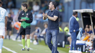 Sergio durante el partido ante el Celta.