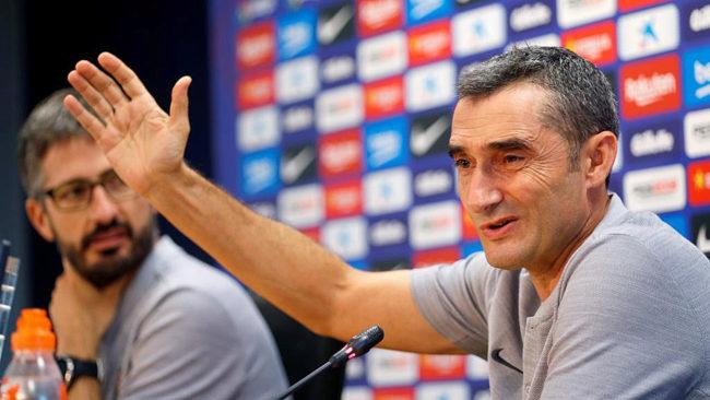 FC Barcelona manager, Ernesto Valverde.