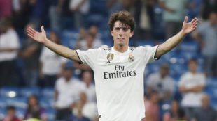 Real Madrid defender Alvaro Odriozola