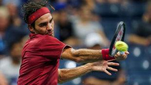 Roger Federer durante un partido del US Open.