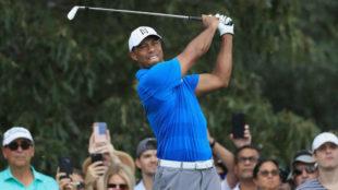 Tiger Woods (42) durante la tercera jornada del Tour Championship.