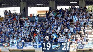 La afición del Alavés ha sido la primera en visitar el estadio de...