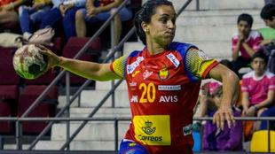 'Sole' López tras un partido con el BM Mágala Costa
