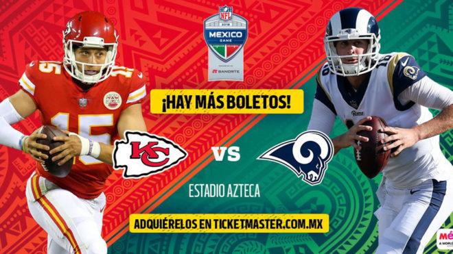 NFL  Se liberan más boletos para el partido de NFL en México entre ... 60508f62195