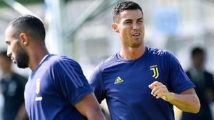 Cristiano Ronaldo, durante un entrenamiento