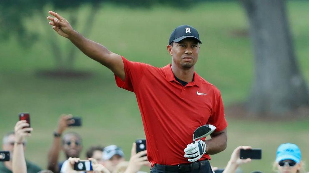 Tiger Woods, durante la cuarta jornada del Tour Championship.