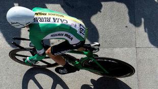 Nick Schultz en la primera etapa de la Vuelta a España.