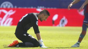 Oier, hundido tras la goleada del Sevilla