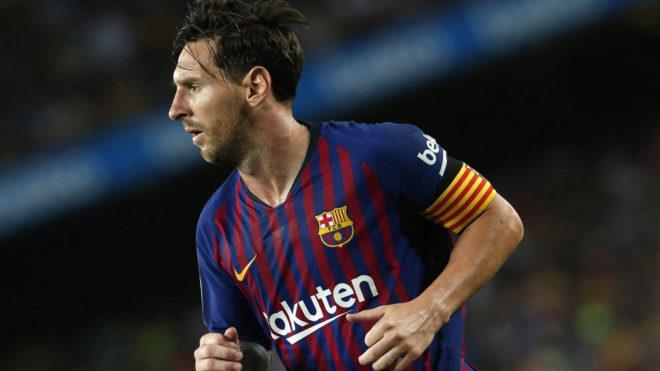 Leo Messi, durante el partido contra el Girona.