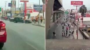 Las imágenes de la vergüenza en México: una pelea a pedradas, un coche atropellando a la gente...