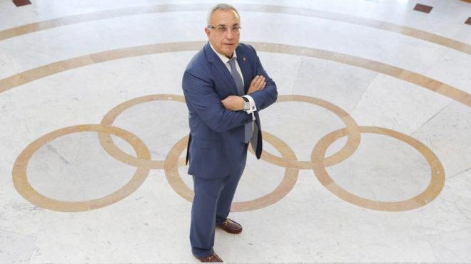 Alejandro Blanco, en la sede del COE durante una entrevista con MARCA.