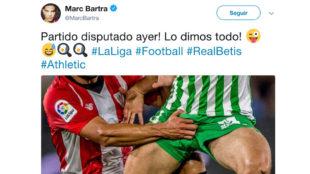 Tuit de Marc Bartra