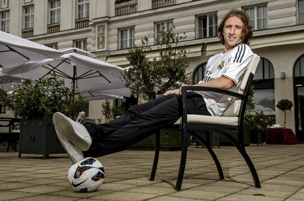 Modric, en el hotel Esplanade de Zagreb
