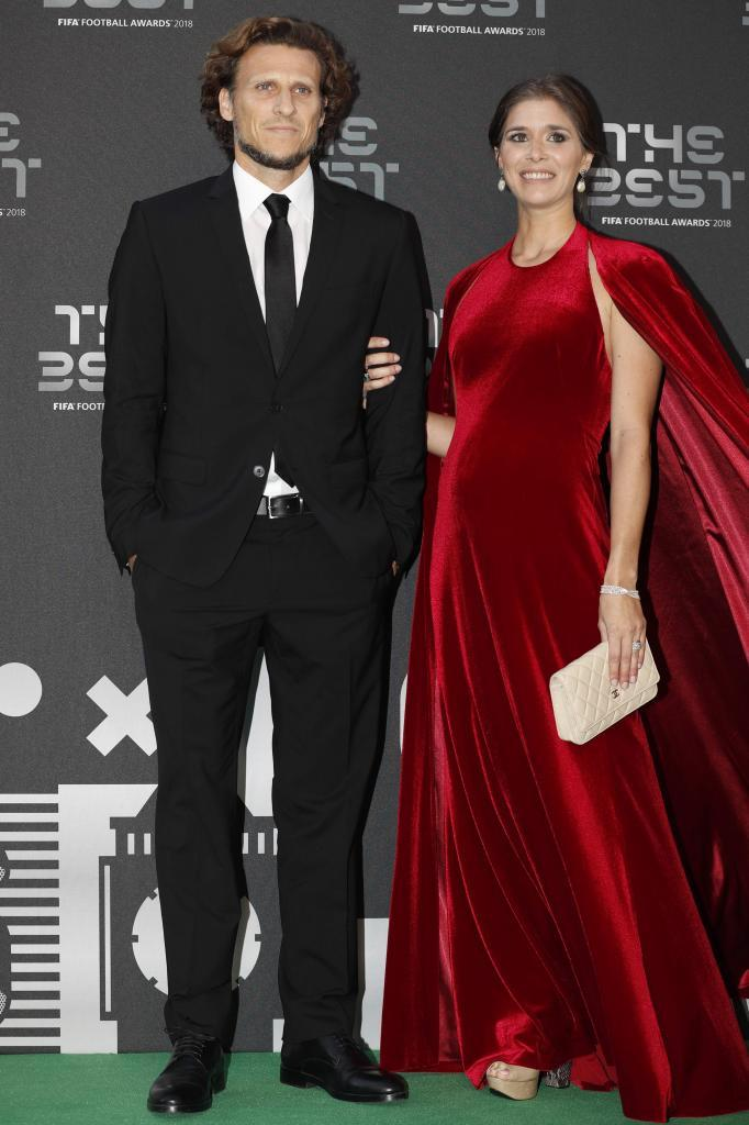 Diego Forlan and wife Paz Cardoso
