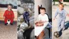 Modric, en distintas imágenes de su infancia