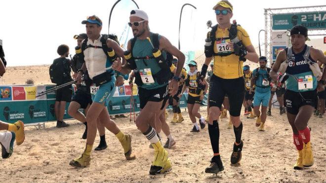 Chema Martínez toma la salida en la segunda etapa del Half Marathon...