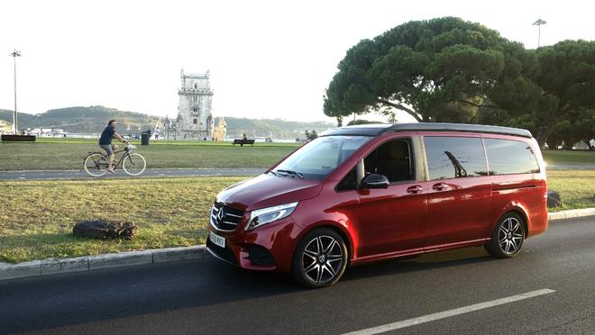 MARCA MOTOR llegó a Lisboa con una Mercedes Marco Polo después de...