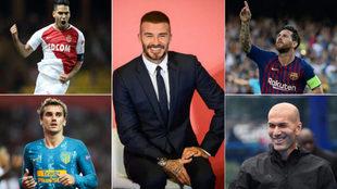 Beckham, Falcao, Zidane, Griezmann y Messi.
