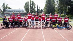 Participantes en la I Jornada Cofidis de Iniciación al Ciclismo...
