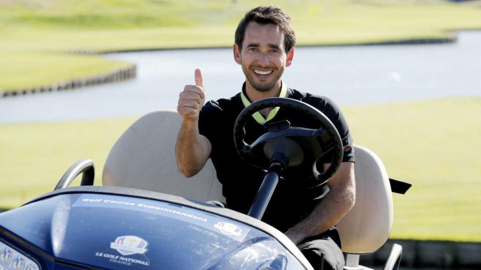 Alejandro Reyes posa en Le Golf National durante los días previos al...