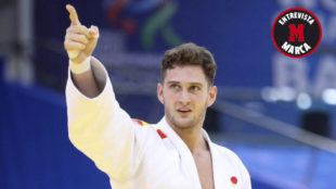 Nikoloz Sherazadishvili, en el Mundial de judo de Bakú.