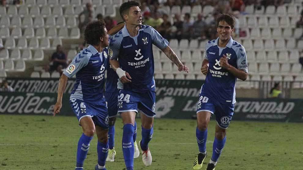 Naranjo celebra el gol de Córdoba que parecía iba a valer el...