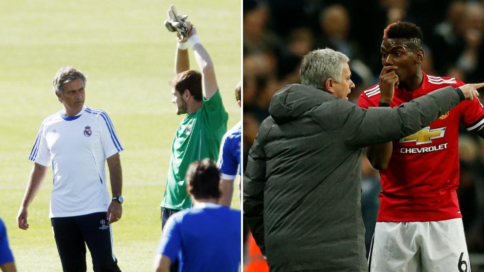 Mourinho en dos imágenes con Pogba y Casillas