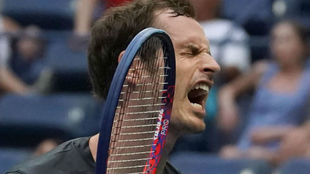 Murray grita en un partido