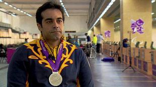 Juan Antonio Saavedra, con su plata en los Juegos de Londres