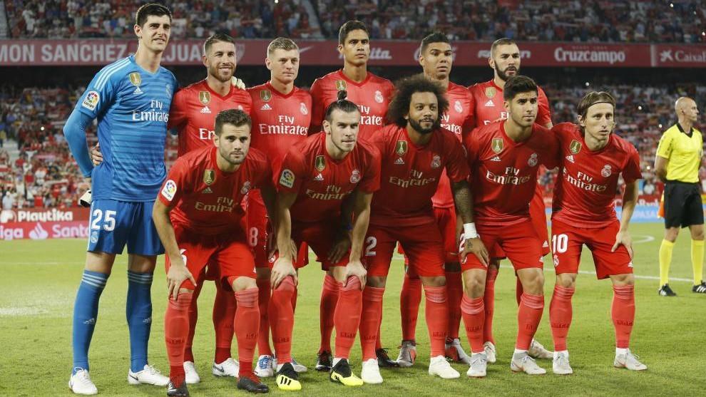 Real Madrid starting XI at Sevilla