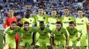 El once del Barça en Butarque