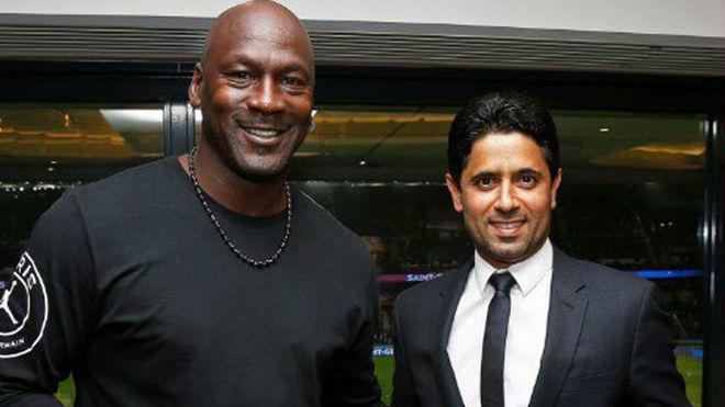 496140062 France - Ligue 1  Michael Jordan attended the Parc des Princes to ...