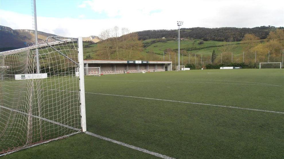 Campo de fútbol del CD Orduña.