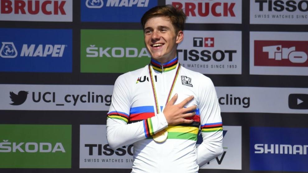 El belga Remco Evenepoel, campeón del mundo en ruta júnior.