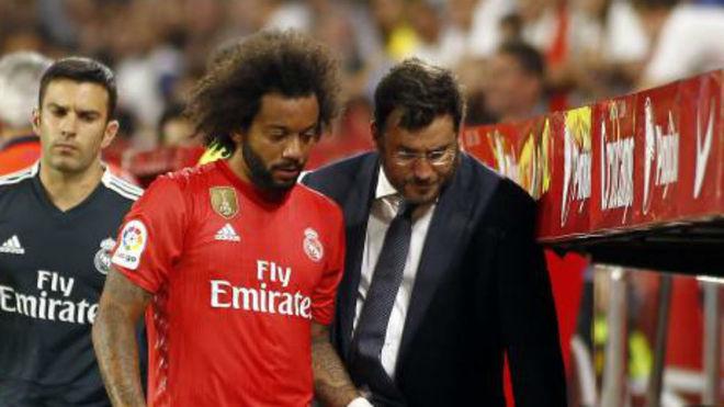 Real Madrid's Brazilian defender Marcelo
