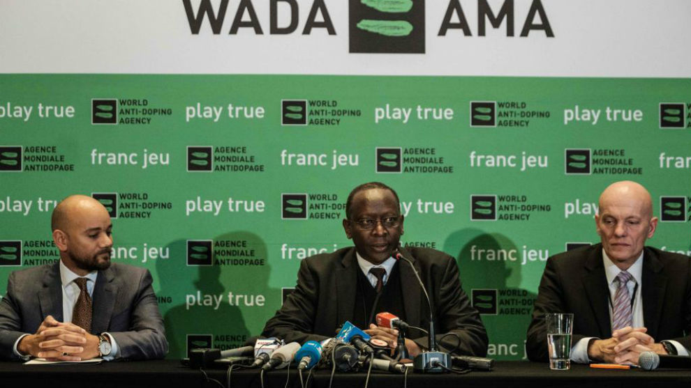 Conferencia de prensa de los ejecutivos de la WADA en Nairobi