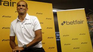Rivaldo, en un acto con la marca Betfair, de la que es embajador.