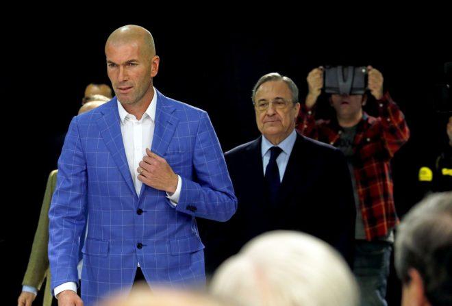 Zinedine Zidane and Florentino Perez
