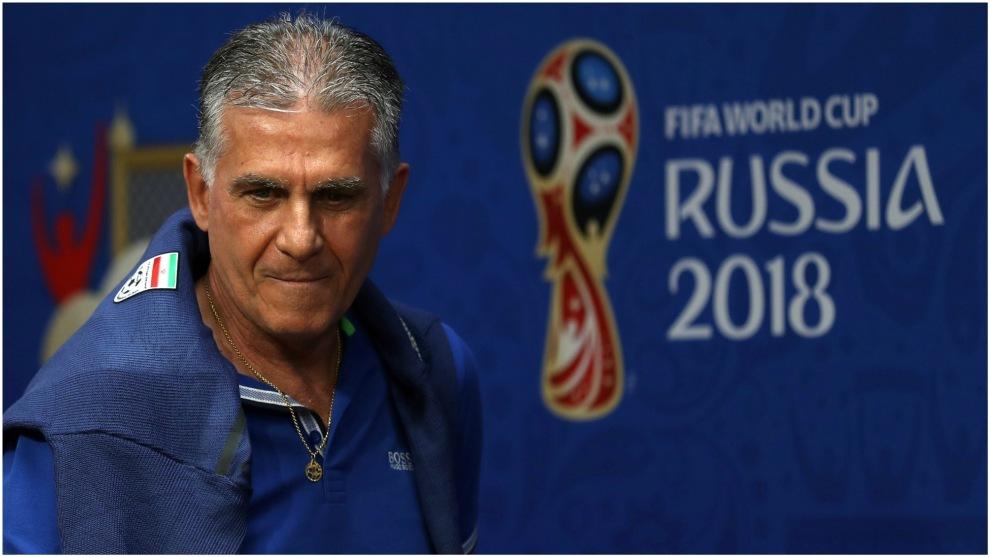 Queiroz, en el Mundial 2018 con Irán.